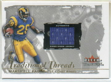 2000 Fleer Tradition Glossy Traditional Threads #13 Marshall Faulk/275