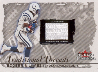 2000 Fleer Tradition Glossy Traditional Threads #19 Edgerrin James/285