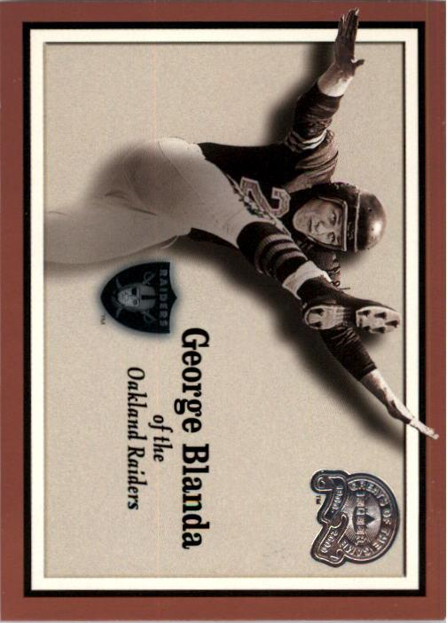 2000 Greats of the Game #51 George Blanda front image