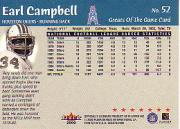2000 Greats of the Game #52 Earl Campbell back image