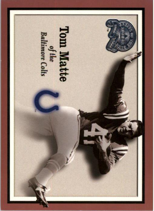 2000 Greats of the Game #74 Tom Matte