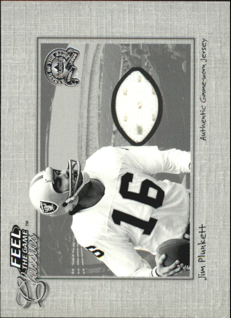 2000 Greats of the Game Feel The Game Classics #16 Jim Plunkett Blk