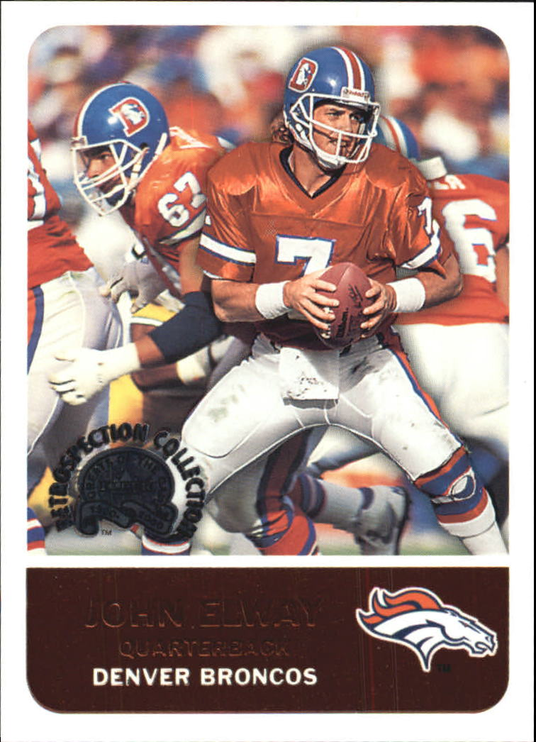 2000 Greats of the Game Retrospection Collection #2RC John Elway front image