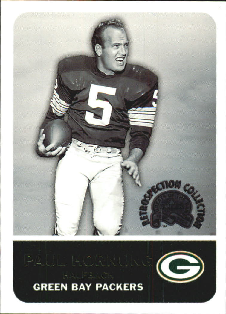 2000 Greats of the Game Retrospection Collection #5RC Paul Hornung