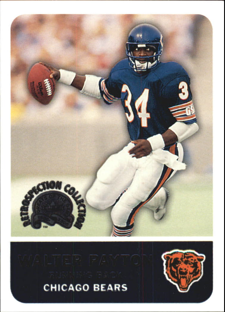 2000 Greats of the Game Retrospection Collection #9RC Walter Payton front image