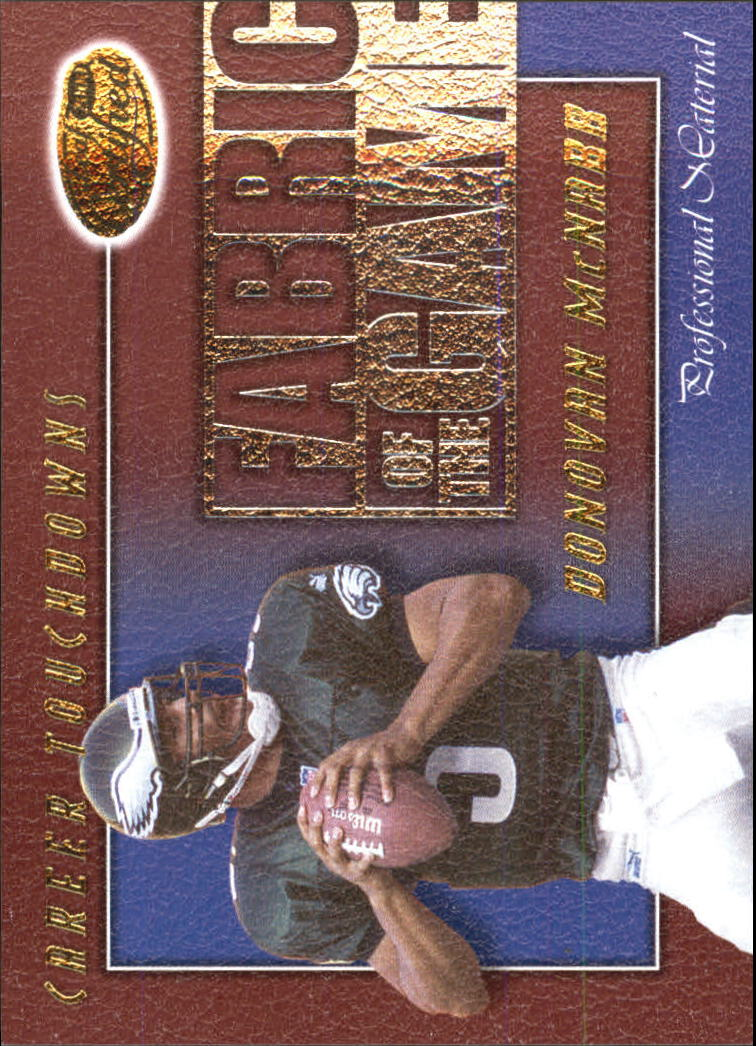 2000 Leaf Certified Fabric of the Game #FG46 Donovan McNabb/1000