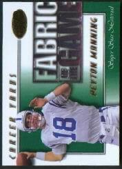 2000 Leaf Certified Fabric of the Game #FG61 Peyton Manning/500