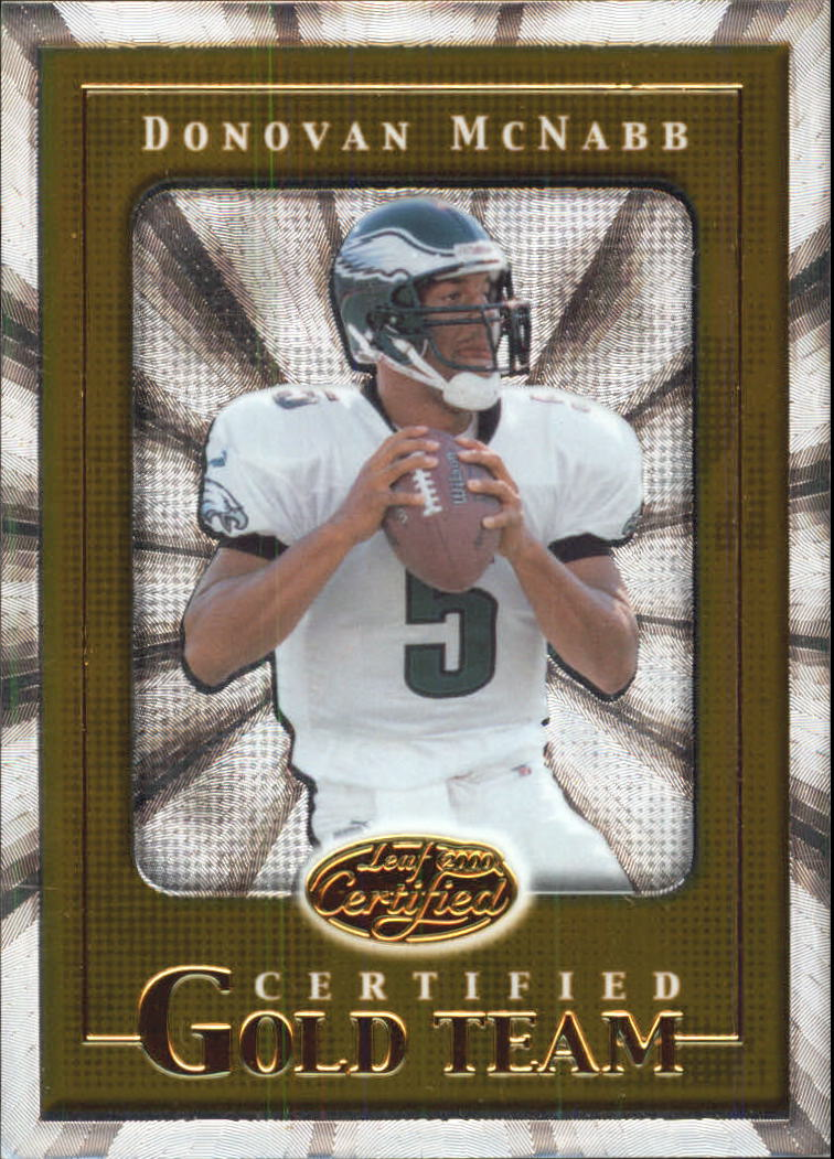 2000 Leaf Certified Gold Team #CGT34 Donovan McNabb