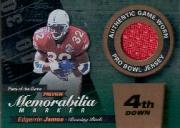 2000 Leaf Limited Piece of the Game Previews #EJ32R Edgerrin James