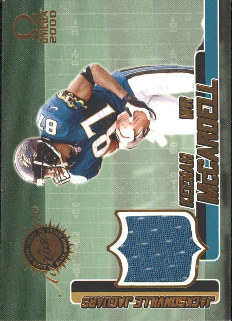 2000 Pacific Omega Game Worn Jerseys #1 Keenan McCardell