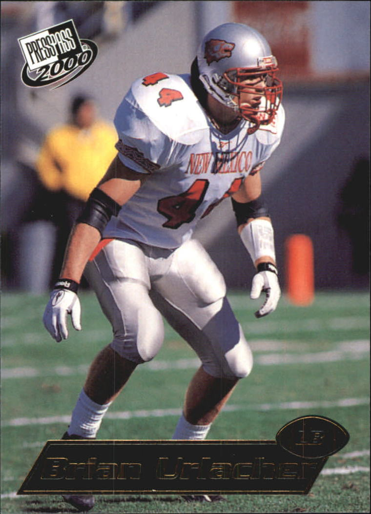 2000 Press Pass Gold Zone #8 Brian Urlacher