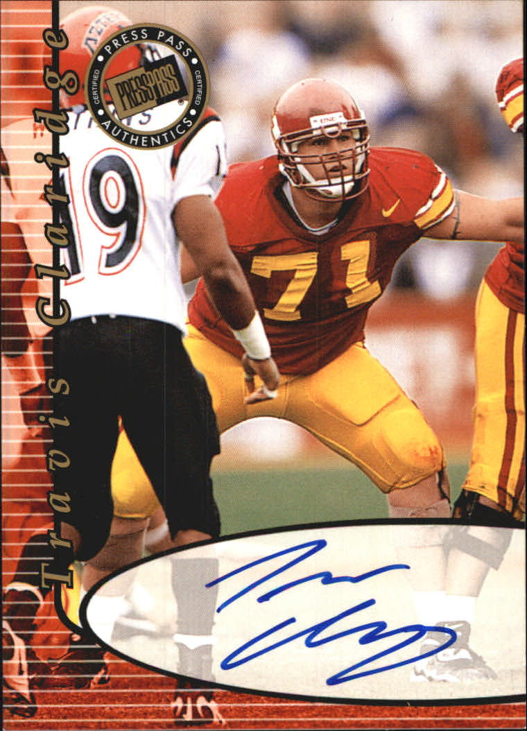 2000 Press Pass Autographs #9 Travis Claridge