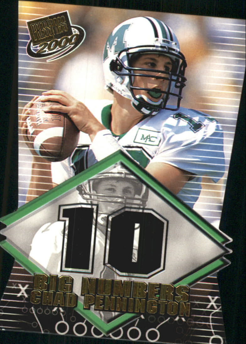 2000 Press Pass Big Numbers Die Cuts #BN7 Chad Pennington