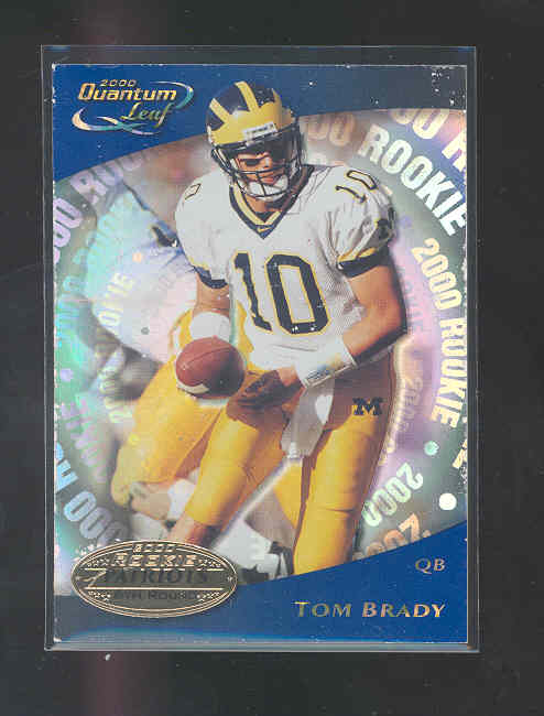 2000 Quantum Leaf #343 Tom Brady RC