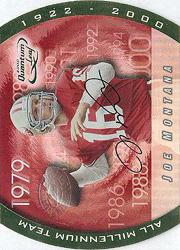 2000 Quantum Leaf All-Millennium Team Autographs #JM Joe Montana