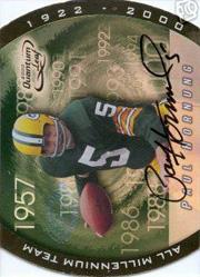 2000 Quantum Leaf All-Millennium Team Autographs #PH Paul Hornung