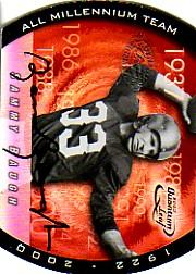 2000 Quantum Leaf All-Millennium Team Autographs #SB Sammy Baugh