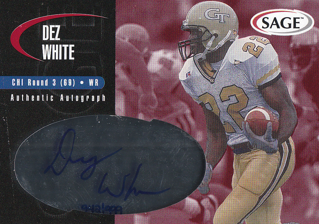 2000 SAGE Autographs Red #A49 Dez White/999