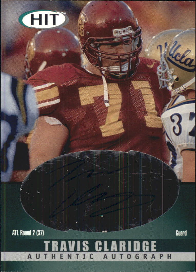 2000 SAGE HIT Autographs Emerald #29 Travis Claridge