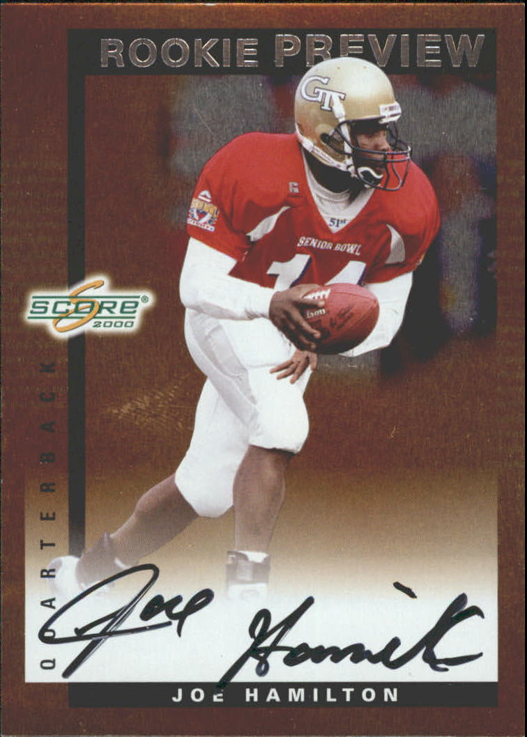 2000 Score Rookie Preview Autographs #SR53 Joe Hamilton