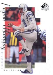 2000 SP Authentic #35 Peyton Manning