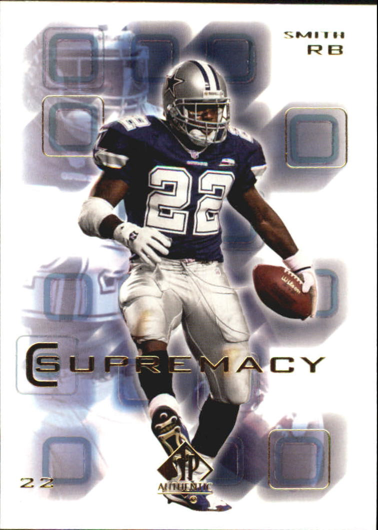 2000 SP Authentic Supremacy #S5 Emmitt Smith front image