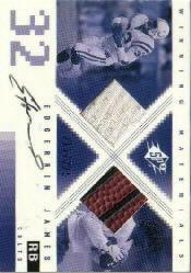 2000 SPx Winning Materials Autographs #AWMEJ Edgerrin James