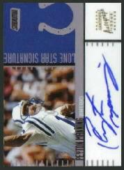 2000 Stadium Club Lone Star Signatures #LS30 Peyton Manning