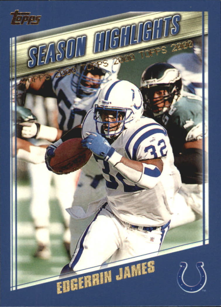 2000 Topps #327 Edgerrin James HL