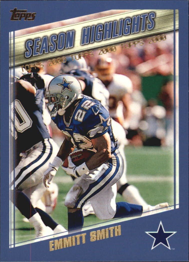 2000 Topps #328 Emmitt Smith HL