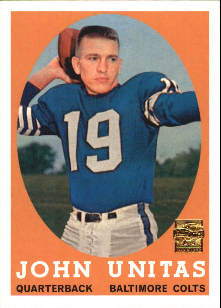 2000 Topps Unitas Reprints #R2 Johnny Unitas 1958