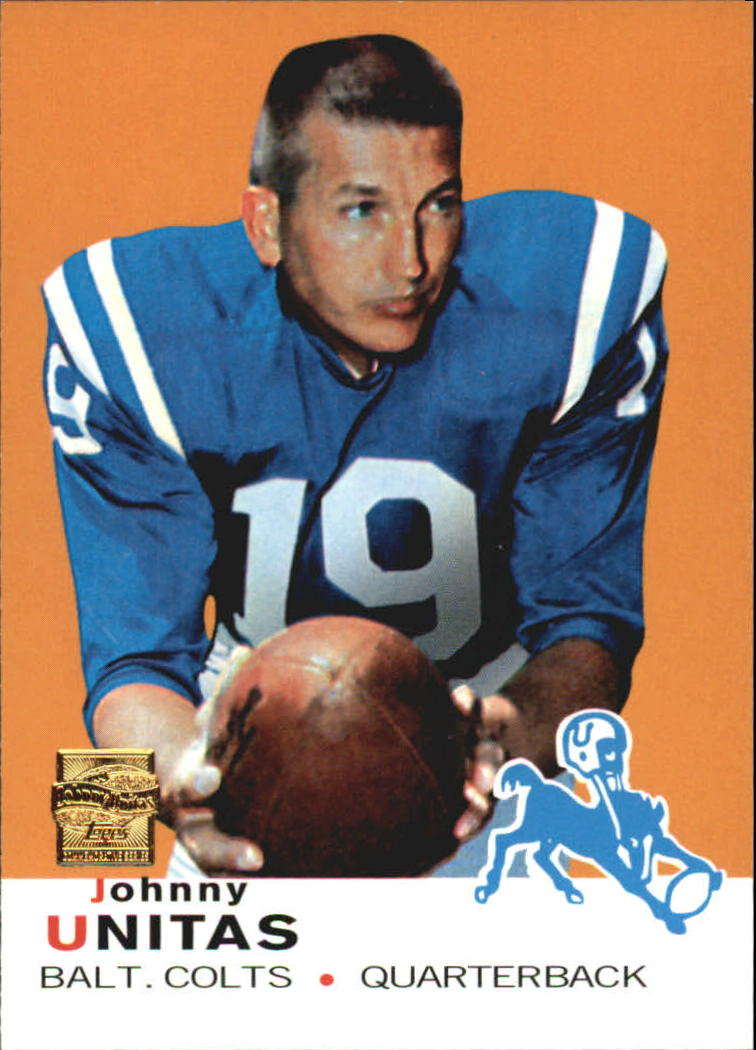 2000 Topps Unitas Reprints #R13 Johnny Unitas 1969