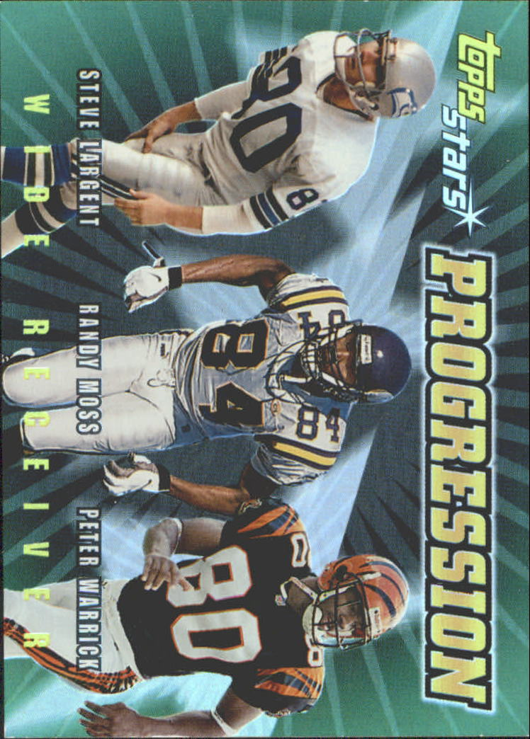 2000 Topps Stars Progression #P4 Largent/R.Moss/Warrick
