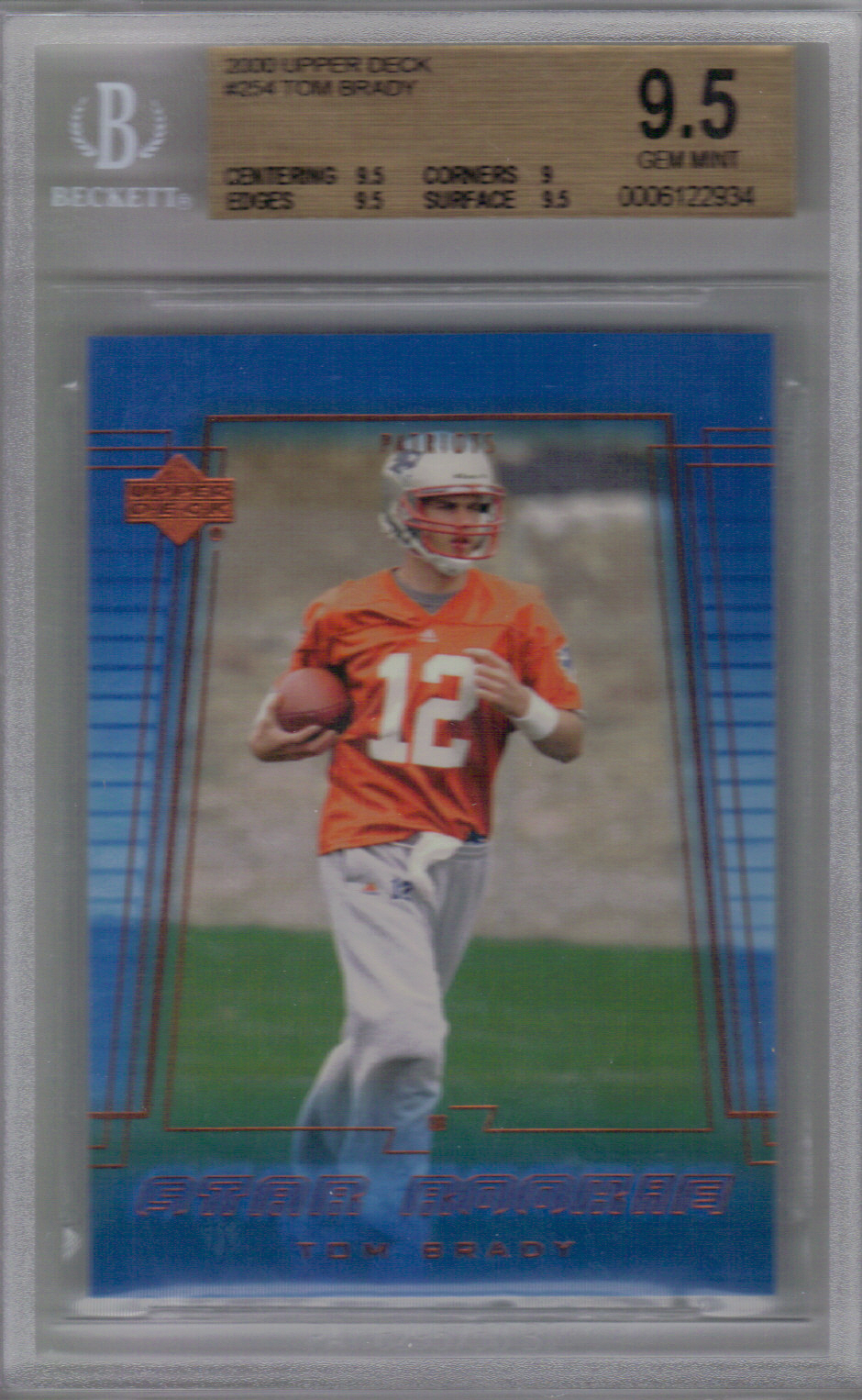 2000 Upper Deck #254 Tom Brady RC