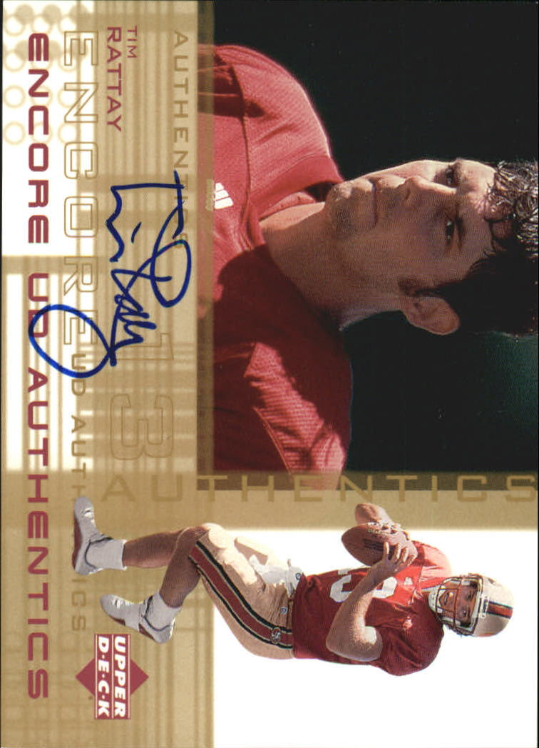 2000 Upper Deck Encore UD Authentics #TR Tim Rattay