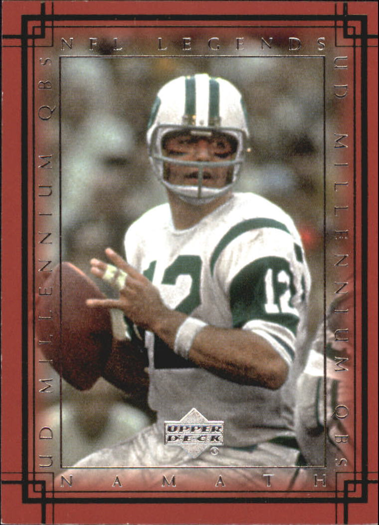 2000 Upper Deck Legends Millennium QBs #M6 Joe Namath