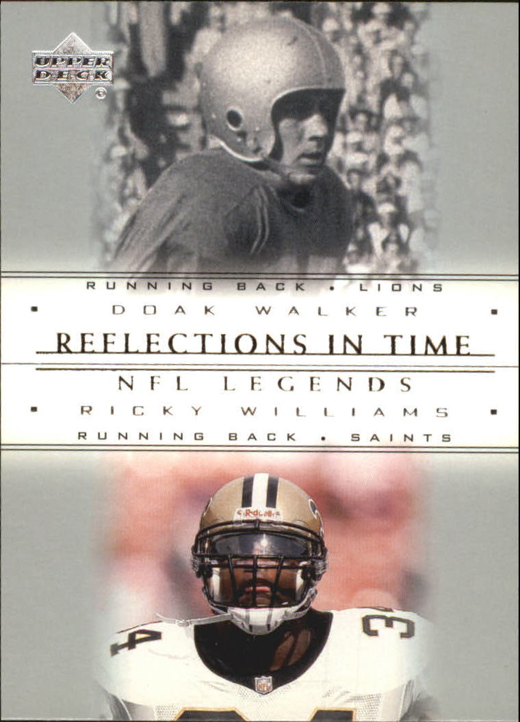 2000 Upper Deck Legends Reflections in Time #R3 D.Walker/R.Williams