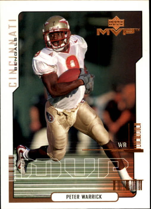 2000 Upper Deck MVP #188 Peter Warrick RC
