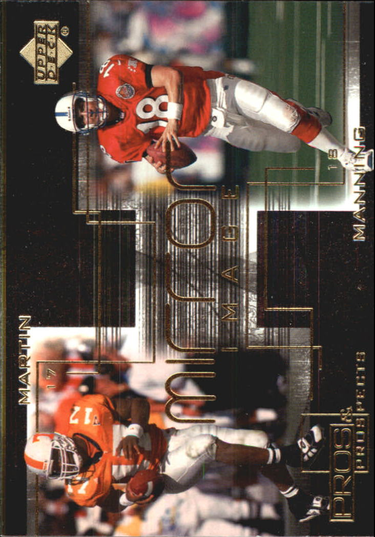 2000 Upper Deck Pros and Prospects Mirror Image #M5 T.Martin/P.Manning