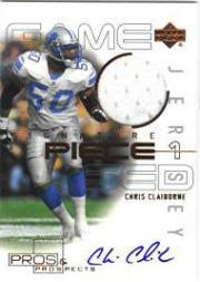 2000 Upper Deck Pros and Prospects Signature Piece 1 #SPCC Chris Claiborne