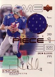 2000 Upper Deck Pros and Prospects Signature Piece 1 #SPDB Drew Bledsoe