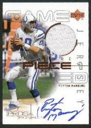 2000 Upper Deck Pros and Prospects Signature Piece 1 #SPPM Peyton Manning
