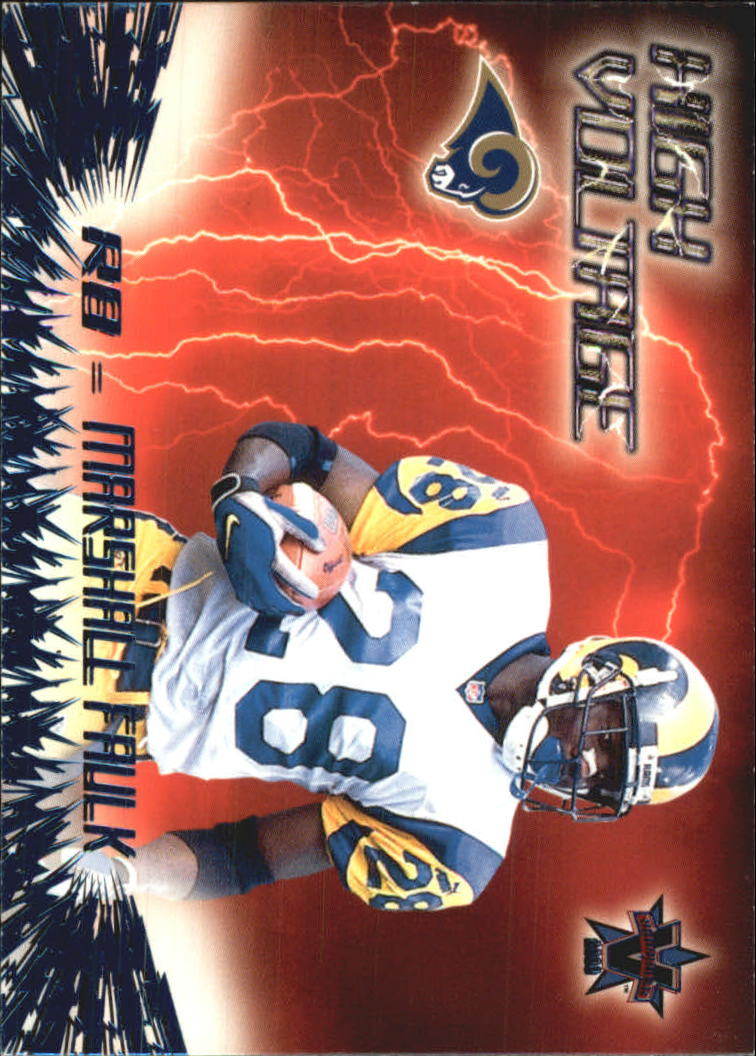 2000 Vanguard High Voltage #28 Marshall Faulk