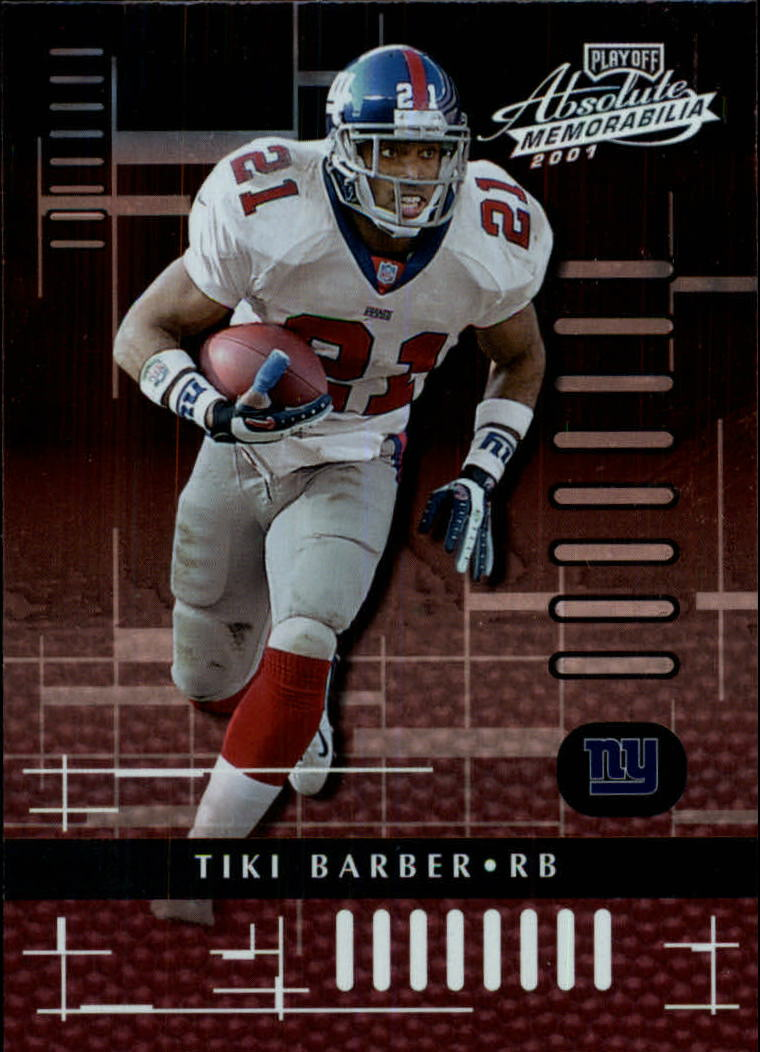 2001 Absolute Memorabilia #61 Tiki Barber
