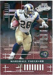 2001 Absolute Memorabilia #88 Marshall Faulk