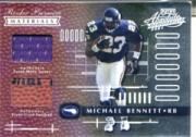 2001 Absolute Memorabilia #162 Michael Bennett RPM RC