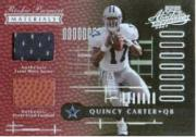 2001 Absolute Memorabilia #185 Quincy Carter RPM RC