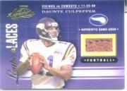 2001 Absolute Memorabilia Leather and Laces Combos #LL27 Daunte Culpepper