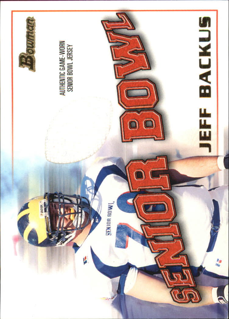 2001 Bowman Rookie Relics #BJJB Jeff Backus I