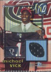 2001 Bowman Chrome Draft Day Relics #DJMV Michael Vick JSY